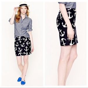 J.Crew • Anchor Print Skirt